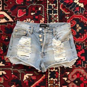 MINKPINK Shorts - MINKPINK slasher flick shorts
